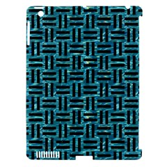 Woven1 Black Marble & Blue Green Water (r) Apple Ipad 3/4 Hardshell Case (compatible With Smart Cover) by trendistuff