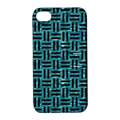 Woven1 Black Marble & Blue Green Water (r) Apple Iphone 4/4s Hardshell Case With Stand by trendistuff