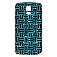 Woven1 Black Marble & Blue Green Water (r) Samsung Galaxy S5 Back Case (white) by trendistuff