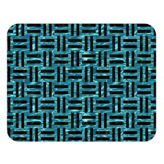 Woven1 Black Marble & Blue Green Water (r) Double Sided Flano Blanket (large) by trendistuff