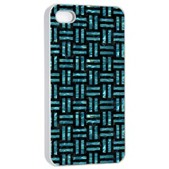 Woven1 Black Marble & Blue Green Water Apple Iphone 4/4s Seamless Case (white) by trendistuff
