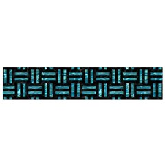 Woven1 Black Marble & Blue Green Water Flano Scarf (small) by trendistuff