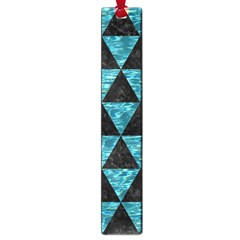 Triangle3 Black Marble & Blue Green Water Large Book Mark by trendistuff