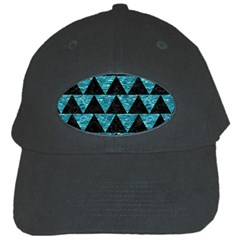 Triangle2 Black Marble & Blue Green Water Black Cap by trendistuff
