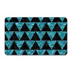 Triangle2 Black Marble & Blue Green Water Magnet (rectangular) by trendistuff