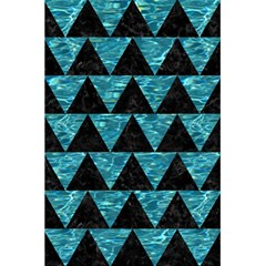 Triangle2 Black Marble & Blue Green Water 5 5  X 8 5  Notebook by trendistuff