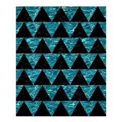 Triangle2 Black Marble & Blue Green Water Shower Curtain 60  X 72  (medium) by trendistuff