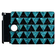 Triangle2 Black Marble & Blue Green Water Apple Ipad 3/4 Flip 360 Case by trendistuff