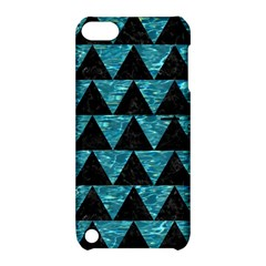 Triangle2 Black Marble & Blue Green Water Apple Ipod Touch 5 Hardshell Case With Stand by trendistuff