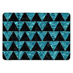 Triangle2 Black Marble & Blue Green Water Samsung Galaxy Tab 8 9  P7300 Flip Case by trendistuff