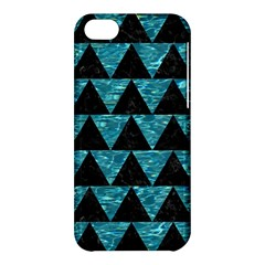 Triangle2 Black Marble & Blue Green Water Apple Iphone 5c Hardshell Case by trendistuff