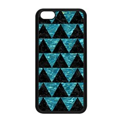 Triangle2 Black Marble & Blue Green Water Apple Iphone 5c Seamless Case (black) by trendistuff