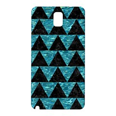 Triangle2 Black Marble & Blue Green Water Samsung Galaxy Note 3 N9005 Hardshell Back Case by trendistuff