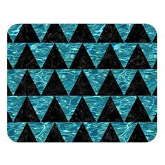 Triangle2 Black Marble & Blue Green Water Double Sided Flano Blanket (large) by trendistuff
