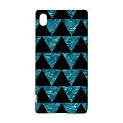 Triangle2 Black Marble & Blue Green Water Sony Xperia Z3+ Hardshell Case by trendistuff