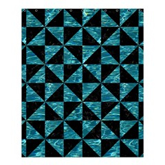 Triangle1 Black Marble & Blue Green Water Shower Curtain 60  X 72  (medium) by trendistuff