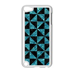 Triangle1 Black Marble & Blue Green Water Apple Ipod Touch 5 Case (white) by trendistuff