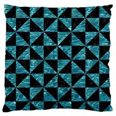 Triangle1 Black Marble & Blue Green Water Standard Flano Cushion Case (one Side) by trendistuff