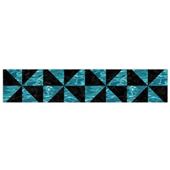 Triangle1 Black Marble & Blue Green Water Flano Scarf (small) by trendistuff