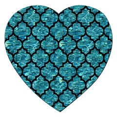 Tile1 Black Marble & Blue Green Water (r) Jigsaw Puzzle (heart) by trendistuff