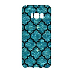 Tile1 Black Marble & Blue Green Water (r) Samsung Galaxy S8 Hardshell Case  by trendistuff