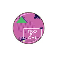 Behance Feelings Beauty Polka Dots Leaf Triangle Tropical Pink Hat Clip Ball Marker (10 Pack)