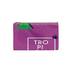 Behance Feelings Beauty Polka Dots Leaf Triangle Tropical Pink Cosmetic Bag (small)  by Mariart