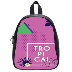 Behance Feelings Beauty Polka Dots Leaf Triangle Tropical Pink School Bags (small)  by Mariart