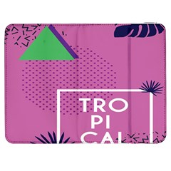 Behance Feelings Beauty Polka Dots Leaf Triangle Tropical Pink Samsung Galaxy Tab 7  P1000 Flip Case by Mariart