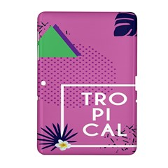 Behance Feelings Beauty Polka Dots Leaf Triangle Tropical Pink Samsung Galaxy Tab 2 (10 1 ) P5100 Hardshell Case  by Mariart