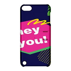 Behance Feelings Beauty Hey You Leaf Polka Dots Pink Blue Apple Ipod Touch 5 Hardshell Case With Stand by Mariart