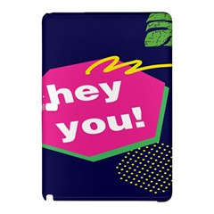 Behance Feelings Beauty Hey You Leaf Polka Dots Pink Blue Samsung Galaxy Tab Pro 12 2 Hardshell Case by Mariart