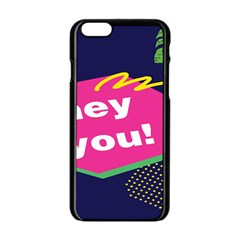 Behance Feelings Beauty Hey You Leaf Polka Dots Pink Blue Apple Iphone 6/6s Black Enamel Case by Mariart