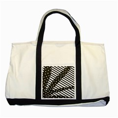 Ambiguous Stripes Line Polka Dots Black Two Tone Tote Bag by Mariart