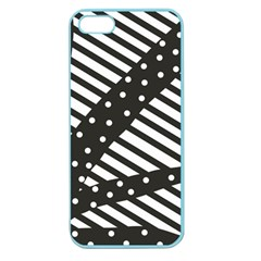 Ambiguous Stripes Line Polka Dots Black Apple Seamless Iphone 5 Case (color) by Mariart