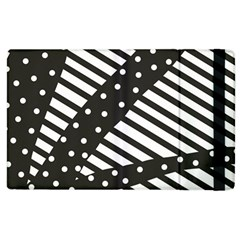 Ambiguous Stripes Line Polka Dots Black Apple Ipad 3/4 Flip Case by Mariart