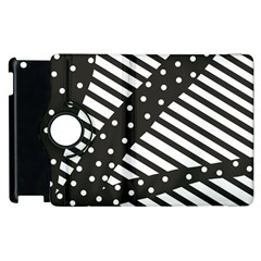 Ambiguous Stripes Line Polka Dots Black Apple Ipad 3/4 Flip 360 Case by Mariart