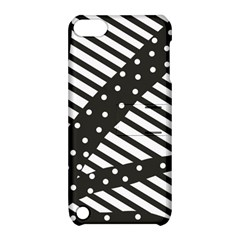Ambiguous Stripes Line Polka Dots Black Apple Ipod Touch 5 Hardshell Case With Stand by Mariart