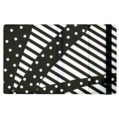 Ambiguous Stripes Line Polka Dots Black Apple Ipad Pro 12 9   Flip Case