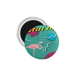 Behance Feelings Beauty Flamingo Bird Still Life Leaf Green Pink Red 1 75  Magnets by Mariart