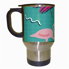 Behance Feelings Beauty Flamingo Bird Still Life Leaf Green Pink Red Travel Mugs (white) by Mariart