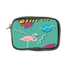 Behance Feelings Beauty Flamingo Bird Still Life Leaf Green Pink Red Coin Purse by Mariart