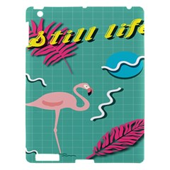 Behance Feelings Beauty Flamingo Bird Still Life Leaf Green Pink Red Apple Ipad 3/4 Hardshell Case by Mariart