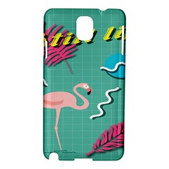 Behance Feelings Beauty Flamingo Bird Still Life Leaf Green Pink Red Samsung Galaxy Note 3 N9005 Hardshell Case by Mariart