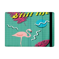 Behance Feelings Beauty Flamingo Bird Still Life Leaf Green Pink Red Ipad Mini 2 Flip Cases by Mariart