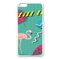 Behance Feelings Beauty Flamingo Bird Still Life Leaf Green Pink Red Apple Iphone 6 Plus/6s Plus Enamel White Case by Mariart