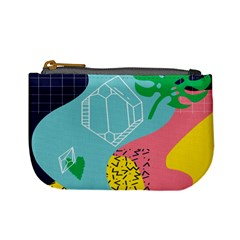 Behance Feelings Beauty Waves Blue Yellow Pink Green Leaf Mini Coin Purses