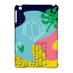 Behance Feelings Beauty Waves Blue Yellow Pink Green Leaf Apple Ipad Mini Hardshell Case (compatible With Smart Cover) by Mariart