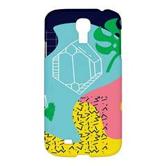 Behance Feelings Beauty Waves Blue Yellow Pink Green Leaf Samsung Galaxy S4 I9500/i9505 Hardshell Case by Mariart