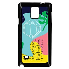 Behance Feelings Beauty Waves Blue Yellow Pink Green Leaf Samsung Galaxy Note 4 Case (black) by Mariart
